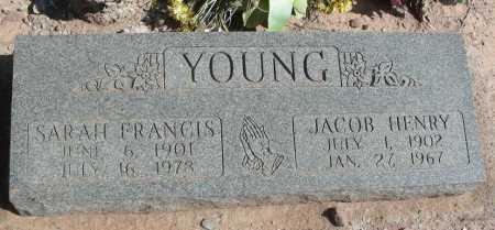 YOUNG, SARAH FRANCIS - Graham County, Arizona | SARAH FRANCIS YOUNG - Arizona Gravestone Photos