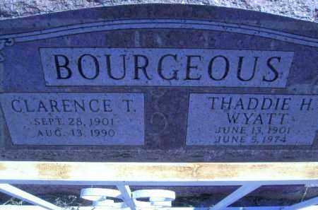 BOURGEOUS, CLARENCE TELLIS - Greenlee County, Arizona | CLARENCE TELLIS BOURGEOUS - Arizona Gravestone Photos