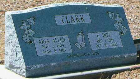 CLARK, B. INEZ - Greenlee County, Arizona | B. INEZ CLARK - Arizona Gravestone Photos