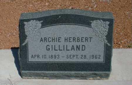 GILLILAND, ARCHIE HERBERT - Greenlee County, Arizona   ARCHIE HERBERT GILLILAND - Arizona Gravestone Photos