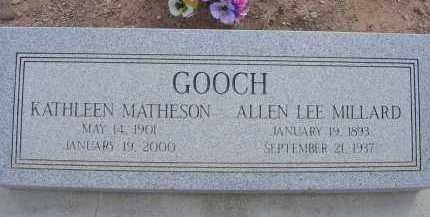 MATHESON GOOCH, KATHLEEN - Greenlee County, Arizona | KATHLEEN MATHESON GOOCH - Arizona Gravestone Photos
