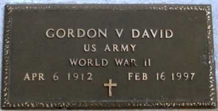 DAVID, GORDON V - La Paz County, Arizona | GORDON V DAVID - Arizona Gravestone Photos