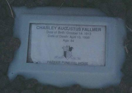 FALLMER, CHARLES AUGUST - La Paz County, Arizona | CHARLES AUGUST FALLMER - Arizona Gravestone Photos