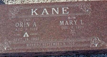 KANE, ORIN A. - La Paz County, Arizona | ORIN A. KANE - Arizona Gravestone Photos
