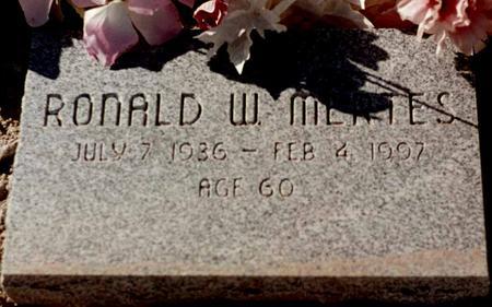 MERTES, RONALD W. - La Paz County, Arizona   RONALD W. MERTES - Arizona Gravestone Photos