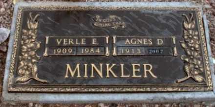 MINKLER, VERLE E. - La Paz County, Arizona | VERLE E. MINKLER - Arizona Gravestone Photos