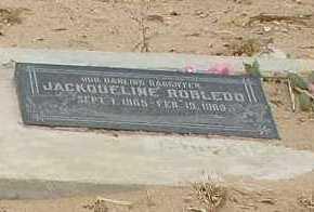 ROBLEDO, JACKQUELINE - La Paz County, Arizona   JACKQUELINE ROBLEDO - Arizona Gravestone Photos