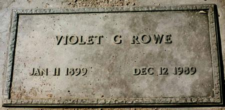 ROWE, VIOLET C. - La Paz County, Arizona | VIOLET C. ROWE - Arizona Gravestone Photos