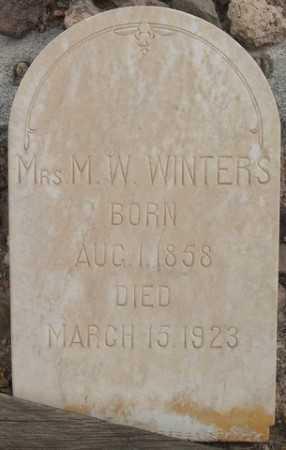 WINTERS, MRS M.W. - La Paz County, Arizona | MRS M.W. WINTERS - Arizona Gravestone Photos