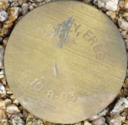 ABBEY, FRED - Maricopa County, Arizona | FRED ABBEY - Arizona Gravestone Photos