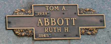 ABBOTT, RUTH H - Maricopa County, Arizona | RUTH H ABBOTT - Arizona Gravestone Photos