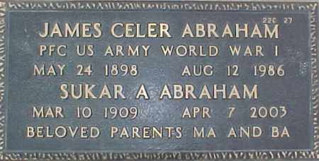 ABRAHAM, SUKAR A. - Maricopa County, Arizona   SUKAR A. ABRAHAM - Arizona Gravestone Photos