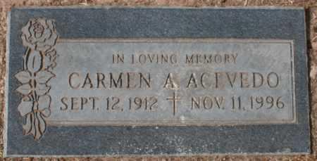ACEVEDO, CARMEN A - Maricopa County, Arizona | CARMEN A ACEVEDO - Arizona Gravestone Photos