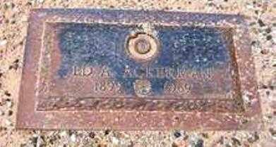 ACKERMAN, ED. E. - Maricopa County, Arizona   ED. E. ACKERMAN - Arizona Gravestone Photos