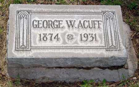 ACUFF, GEORGE W. - Maricopa County, Arizona | GEORGE W. ACUFF - Arizona Gravestone Photos