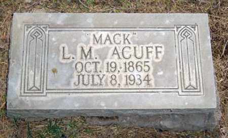 "ACUFF, L. M. ""MACK"" - Maricopa County, Arizona 