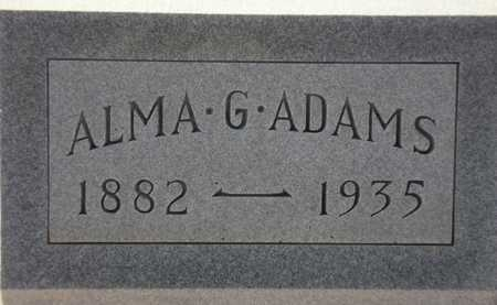 ADAMS, ALMA G. - Maricopa County, Arizona | ALMA G. ADAMS - Arizona Gravestone Photos