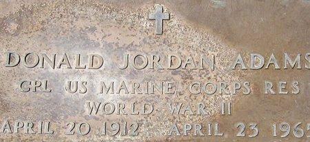 ADAMS, DONALD JORDAN - Maricopa County, Arizona | DONALD JORDAN ADAMS - Arizona Gravestone Photos