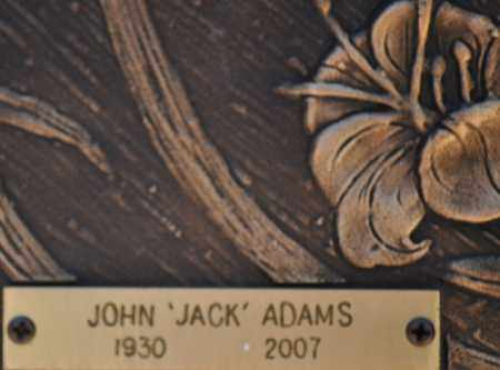ADAMS, JOHN (JACK) - Maricopa County, Arizona | JOHN (JACK) ADAMS - Arizona Gravestone Photos