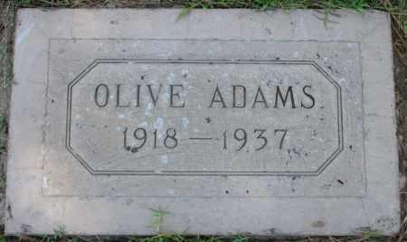 ADAMS, OLIVE - Maricopa County, Arizona | OLIVE ADAMS - Arizona Gravestone Photos