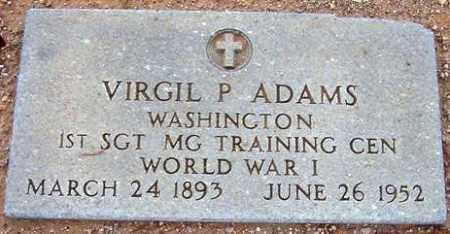ADAMS, VIRGIL P. - Maricopa County, Arizona | VIRGIL P. ADAMS - Arizona Gravestone Photos