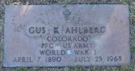 AHLBERG, GUS K - Maricopa County, Arizona | GUS K AHLBERG - Arizona Gravestone Photos