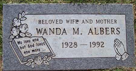 ALBERS, WANDA M. - Maricopa County, Arizona | WANDA M. ALBERS - Arizona Gravestone Photos