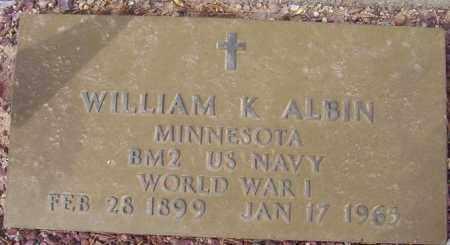 ALBIN, WILLIAM (BILL) KENNETH - Maricopa County, Arizona | WILLIAM (BILL) KENNETH ALBIN - Arizona Gravestone Photos