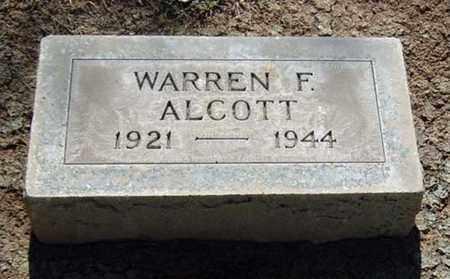 ALCOTT, WARREN FRANK - Maricopa County, Arizona | WARREN FRANK ALCOTT - Arizona Gravestone Photos