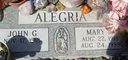 ALEGRIA, MARY - Maricopa County, Arizona | MARY ALEGRIA - Arizona Gravestone Photos