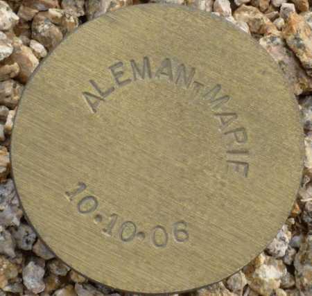 ALEMAN, MARIE - Maricopa County, Arizona | MARIE ALEMAN - Arizona Gravestone Photos