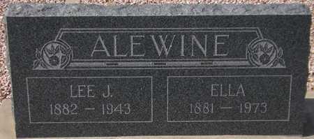 ALEWINE, ELLA - Maricopa County, Arizona | ELLA ALEWINE - Arizona Gravestone Photos