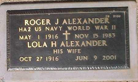 ALEXANDER, LOLA H - Maricopa County, Arizona   LOLA H ALEXANDER - Arizona Gravestone Photos