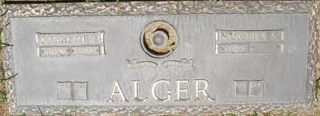 ALGER, KENNETH F. - Maricopa County, Arizona   KENNETH F. ALGER - Arizona Gravestone Photos