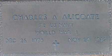 ALICOATE, CHARLES A - Maricopa County, Arizona | CHARLES A ALICOATE - Arizona Gravestone Photos