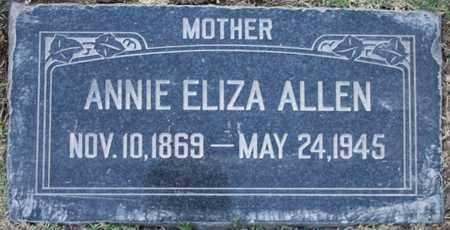 ALLEN, ANNIE ELIZA - Maricopa County, Arizona | ANNIE ELIZA ALLEN - Arizona Gravestone Photos