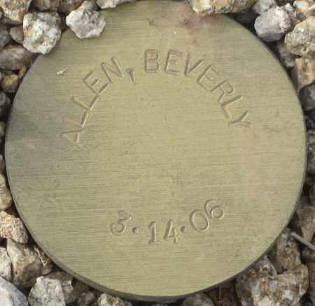 ALLEN, BEVERLY - Maricopa County, Arizona | BEVERLY ALLEN - Arizona Gravestone Photos