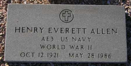 ALLEN, HENRY EVERETT - Maricopa County, Arizona | HENRY EVERETT ALLEN - Arizona Gravestone Photos