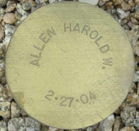 ALLEN, HAROLD W. - Maricopa County, Arizona | HAROLD W. ALLEN - Arizona Gravestone Photos
