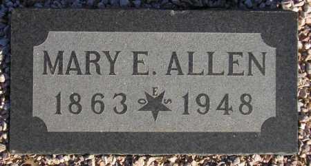 ALLEN, MARY E(LIZABETH) - Maricopa County, Arizona | MARY E(LIZABETH) ALLEN - Arizona Gravestone Photos
