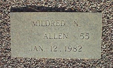 ALLEN, MILDRED N - Maricopa County, Arizona   MILDRED N ALLEN - Arizona Gravestone Photos