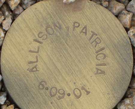 ALLISON, PATRICIA - Maricopa County, Arizona | PATRICIA ALLISON - Arizona Gravestone Photos