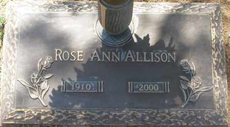 ALLISON, ROSE ANN - Maricopa County, Arizona | ROSE ANN ALLISON - Arizona Gravestone Photos