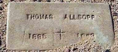 ALLSOPP, THOMAS - Maricopa County, Arizona | THOMAS ALLSOPP - Arizona Gravestone Photos