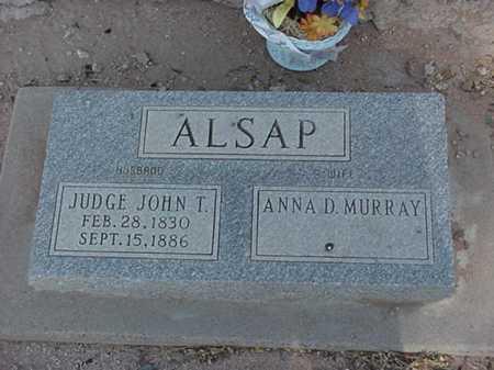 MURRAY ALSAP, ANNA D - Maricopa County, Arizona | ANNA D MURRAY ALSAP - Arizona Gravestone Photos