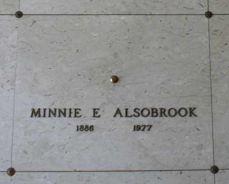ALSOBROOK, MINNIE E. - Maricopa County, Arizona | MINNIE E. ALSOBROOK - Arizona Gravestone Photos