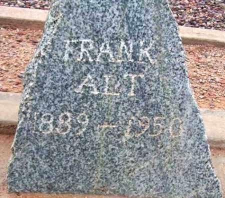 ALT, FRANK - Maricopa County, Arizona | FRANK ALT - Arizona Gravestone Photos