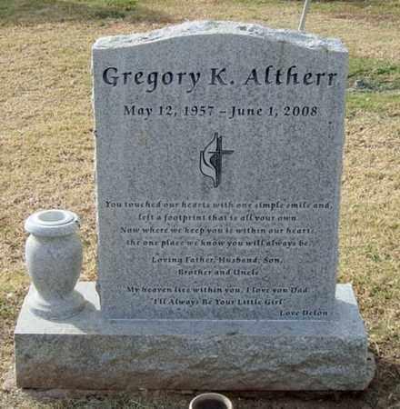 ALTHERR, GREGORY K. - Maricopa County, Arizona | GREGORY K. ALTHERR - Arizona Gravestone Photos