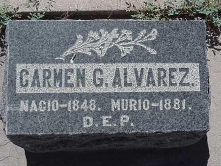 ALVAREZ, CARMEN G - Maricopa County, Arizona | CARMEN G ALVAREZ - Arizona Gravestone Photos