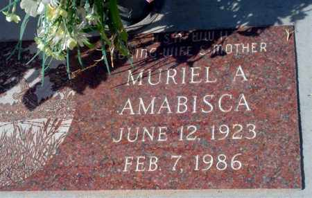 WHITEMAN AMABISCA, MURIEL A. - Maricopa County, Arizona | MURIEL A. WHITEMAN AMABISCA - Arizona Gravestone Photos